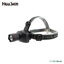 Mini Zoomable LED Headlamp 3 Mode Energy Saving Outdoor Sports Head light Camping Fishing Head Lamp Flashlight Color Black