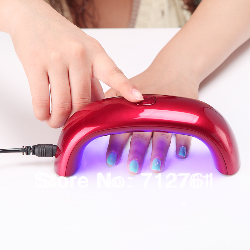 Nail Art Tools, Rainbow LED light therapy machine, LED lighting small Mini nail art equipment, suitalbe for nail polish glue(China (Mainland))