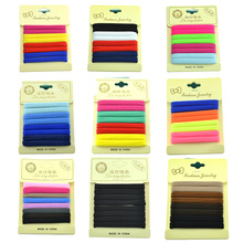 1 Set Mix Color 4.5 CM Cute New Fashion Candy Color Black Rope Holders Women Hair Accessories For Girl Rubber Band Tie Gum