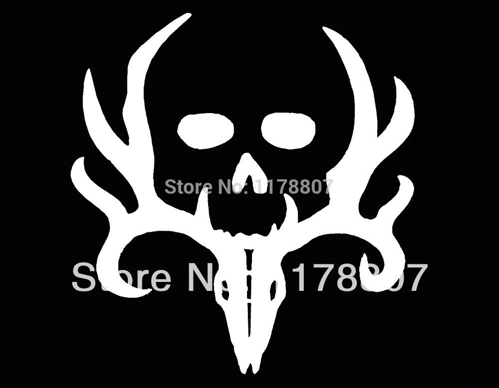 50 pcs/lot Bone Collector Deer Hunting Gun Car Sticker Truck SUV Bumper Auto Door Laptop Kayak Canoe Vinyl Decal 8 Colors(China (Mainland))