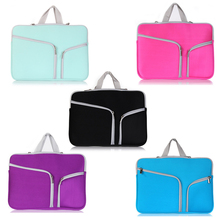Double pocket fashion Bags Cases For Apple macbook Air 11.6 13.3/ Pro 13.3 15.4 Pro Retina Protector bag For Mac book Laptop(China (Mainland))