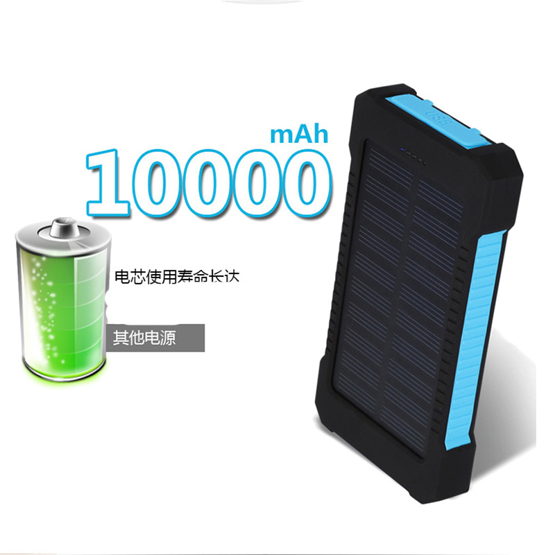 The new solar mobile power outdoor three 8000 Ma mobile phone charger solar charging treasure(China (Mainland))
