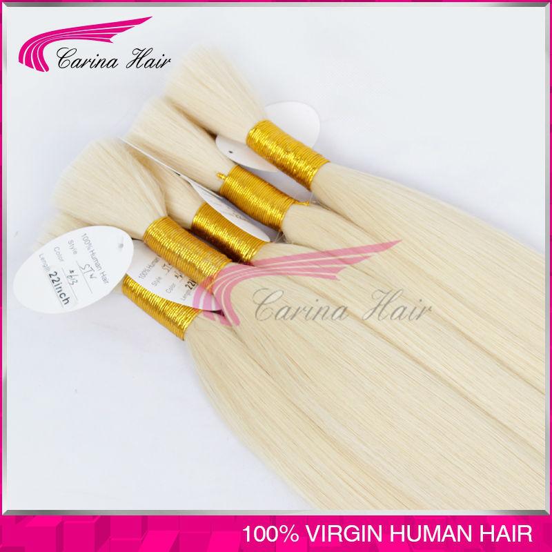 Grade 6a 613 Virgin Malaysian Bulk Hair No Weft Human Hair Bulk For Braiding 100g/pcs blonde Malaysian virgin hair Free Shipping