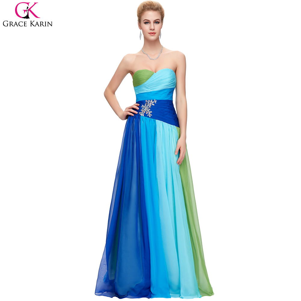 Popular rainbow gowns buy cheap rainbow gowns lots from for Rainbow wedding dress say yes to the dress