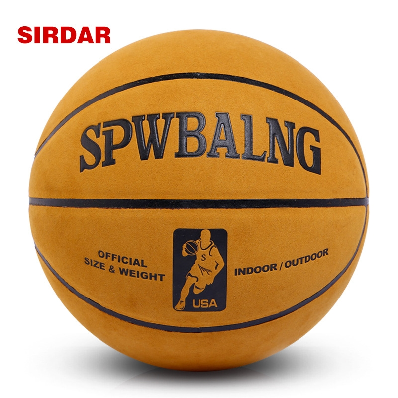 Cow Genuine Leather Basketball Ball American Official Authentic Suede Slip Outdoor Basektball Ball Size 7 With Free Needle(China (Mainland))