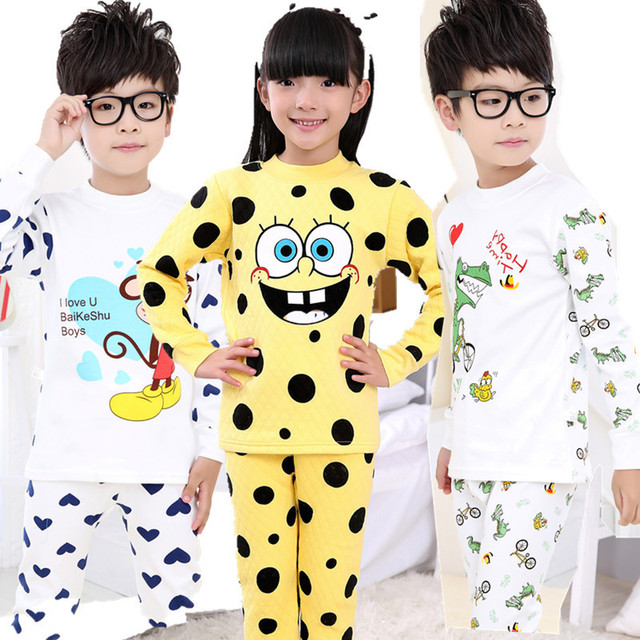Kinderen katoenen kleding sets kids ondergoed pak meisjes pyjama baby cartoon jongen animal - Baby boy versiering van de zaal ...