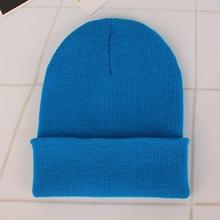 2018 sombreros de invierno para mujer nueva gorros de punto sólido sombrero lindo niñas otoño mujer Beanie gorras caliente sombrero ocasionales de las señoras tapa(China)