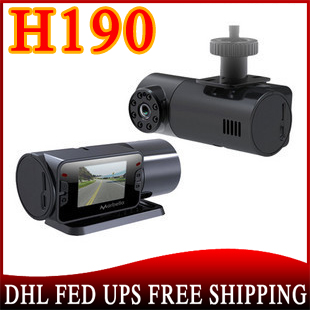 30pcs/lot no profit Car video dvr with HD1280x720p and Car Camera lens can be rotated 270 degree H190(China (Mainland))