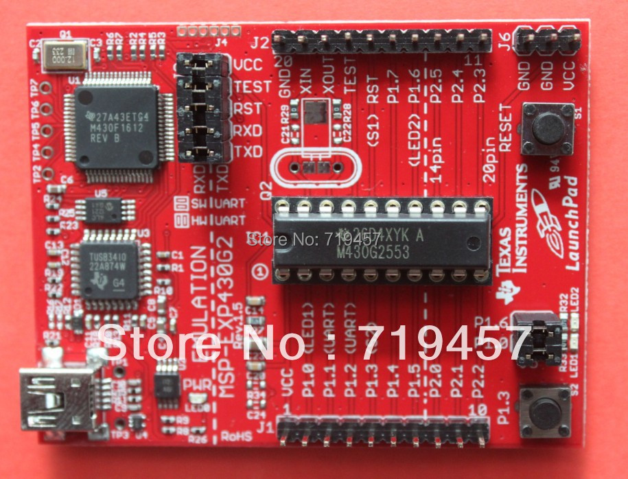 FREE SHIPPING Ti msp430 development board msp-exp430g2 launchpad(China (Mainland))