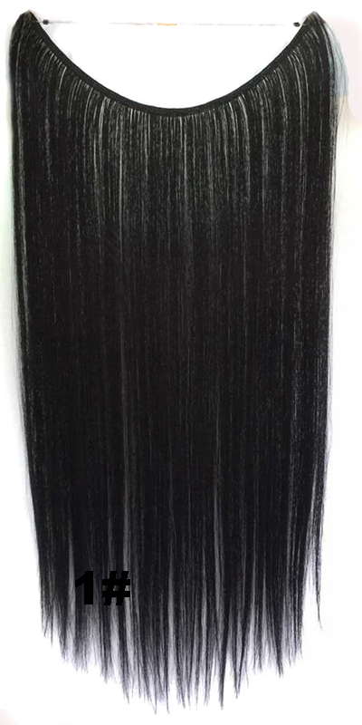 New Products,55cm 50g Jet black Filp Hai, Heat Resistance Synthetic Hair Extensions One-piece Long,1pc,color 1#,free shipping<br><br>Aliexpress