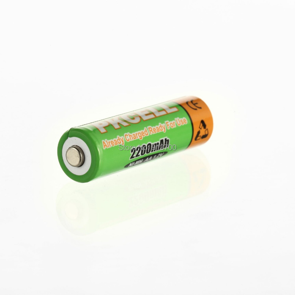 8Pcs 2card PKCELL Low self discharge Durable AA Battery 1 2V 2200mAh Ni MH Rechargeable Batteries