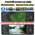 12V 4 inch TFT HD bluetooth Car Radio Audio Video MP5 backup Rear View Camera with
