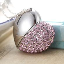 Pink Heart Jewelry Gadget Gift Pendrive 2tb 1tb Memoria Usb Key Cle Usb Flash Drive 64gb 128gb Pen Drive 32GB 16GB 8GB Pendriver