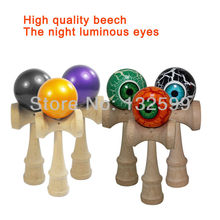 Free shipping 300 PCS Kendama Ball Traditional Wood Game Toy Education Gift magical bright eyes shine at night of high quality(China (Mainland))