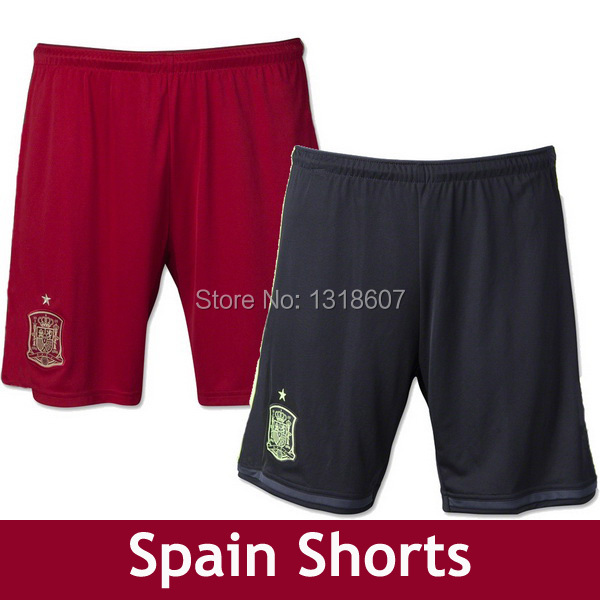 Spain soccer shorts Spain football sports shorts men soccer Home away Spain Short Soccer INIESTA XAVI RAMOS ALONSO SILVA TORRES(China (Mainland))