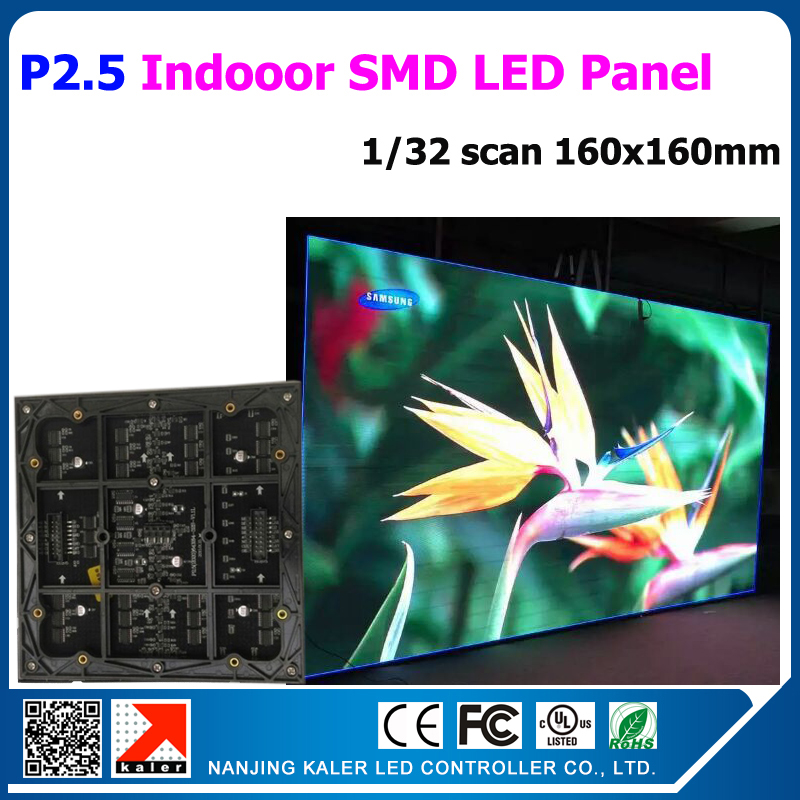 P2.5 indoor smd 2121 rgb led panel 160*160mm high pixel 160,000 dot/sqare meter high brightness indoor led video display modules(China (Mainland))