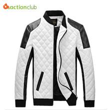 2015 winter spring mens white leather jackets and coats,jaqueta de couro masculina men biker jacket leather coats&jacket men(China (Mainland))