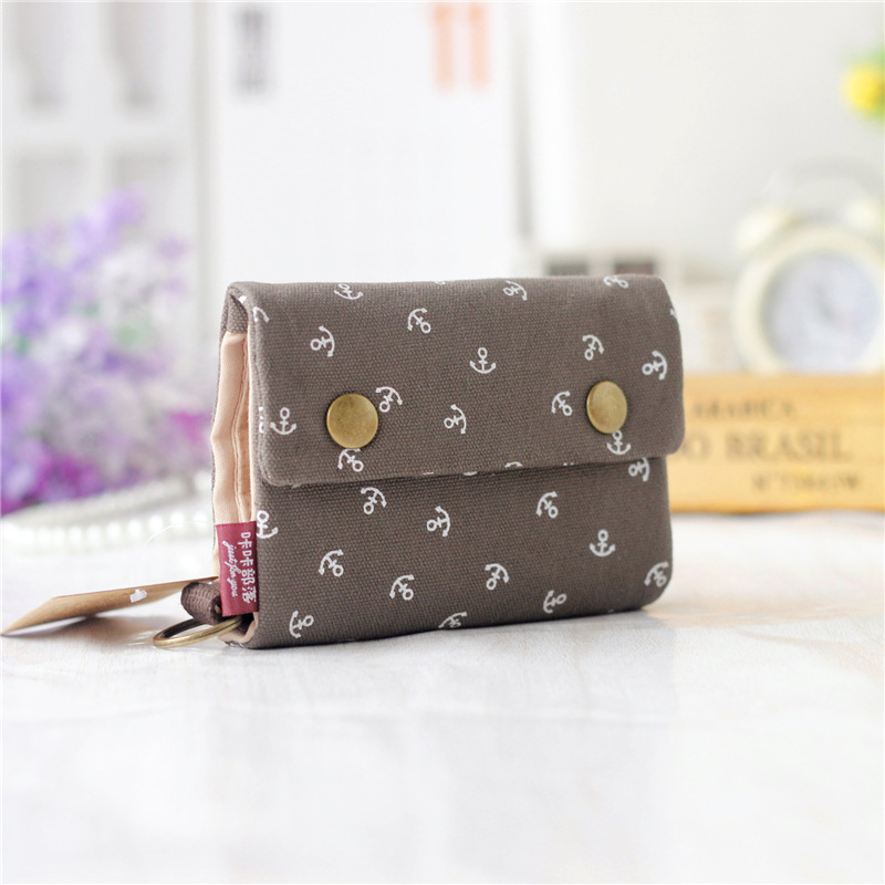 Canvas printing women's mini wallets children small pouches mini money bags female purses carteiras femininas for girls boys(China (Mainland))