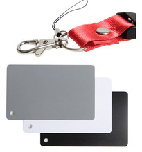 3 in 1 Digital Grey Card White Black 18% Grey Color White Balance + Strap set