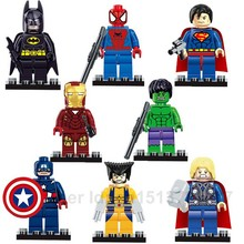 Marvel DC Avengers Super Hero star wars ninja turtles Building Blocks action figure Toys Superman Batman spiderman Hulk Ironman(China (Mainland))