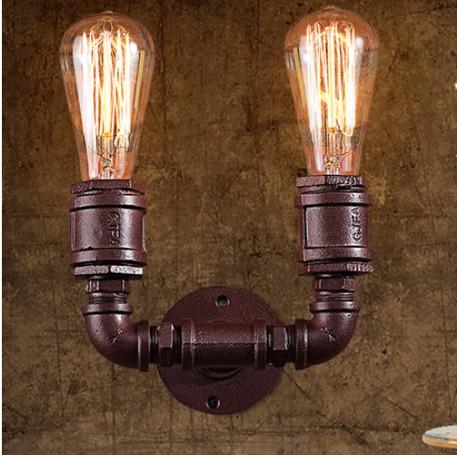 Loft Style Vintage Wall Lights For Home Antique Light Metal Industrial Water Pipe Lamp Bedside Edison Wall Sconce Arandela<br><br>Aliexpress
