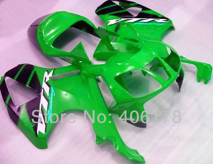 Hot Sales,00 01 02 03 04 05 06 RC 51 fairing For Honda Rc51 RVT1000RR 2000-2006 Green and Black Motorcycle race Fairings Kit(China (Mainland))
