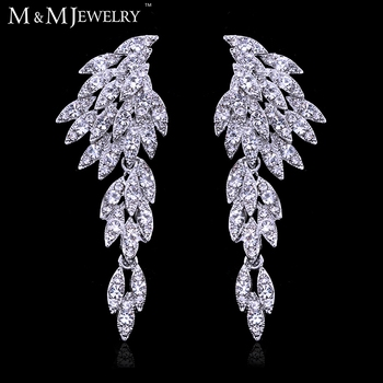 New ! Real Gorgeous Eagle Shape Crystal Bridal Earrings Gold Plated Long Drop Earrings for Women Wedding Accessories EH209