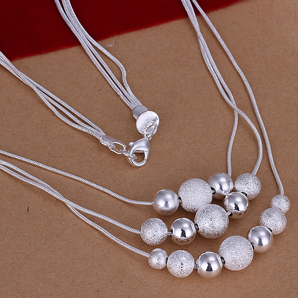 GSSPN020 925 silver wedding necklace snake necklace fashion jewelry wholesale Nickle free antiallergic factory price