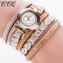 CCQ Brand Fashion Luxury Rhinestone Bracelet Watch Ladies Quartz Watch Casual Women Wristwatch Relogio Feminino C43(China (Mainland))