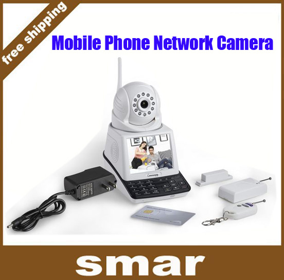 Здесь можно купить  4 in Wireless IP Camera Wifi Mobile Phone Network Camera with Video call + Record function + Remote monitor + Wireless Alarm   Безопасность и защита