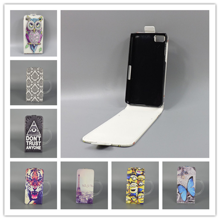 For Blackberry Z10 Hot Pattern Cute PrintingVertical Flip Cover Open Down/up Back Cover filp leather case()