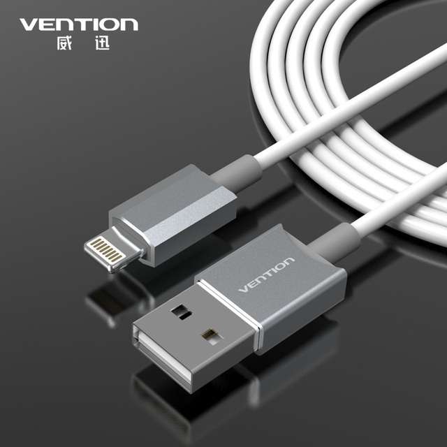 VENTION Latest metal Aluminum Wire 8 pin USB Date Sync Charging Charger Cable 1m for iPhone 5 5s 6 plus iPad 4 fit IOS8