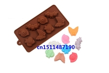 Silicone Mold Insect worm snail candy Ice cube Tray Chocolate DIY Soap(China (Mainland))