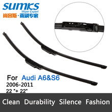 "Wiper blades for Audi A6 S6 (2006-2011) claw type 22""+22"" for front windshield auto parts car accessories, 2 pcs HY-022(China (Mainland))"