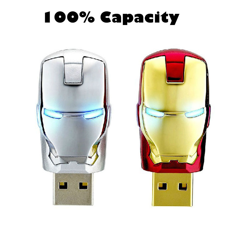 Real capacity Iron man usb flash drive pen drive 4gb 8gb 16gb 32gb 64gb pendrive Creativo