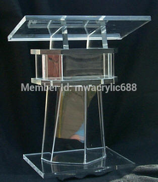 pulpit furniture Free Shipping Beautiful Easy Cheap Clear Detachable Acrylic Podium Pulpit Lectern acrylic podium(China (Mainland))