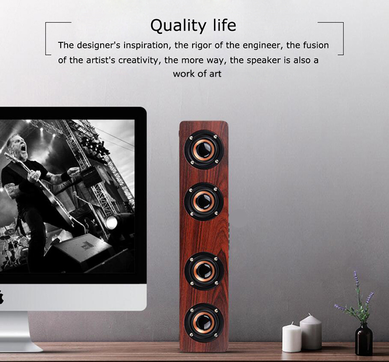 speaker wood USB microphone FM 2