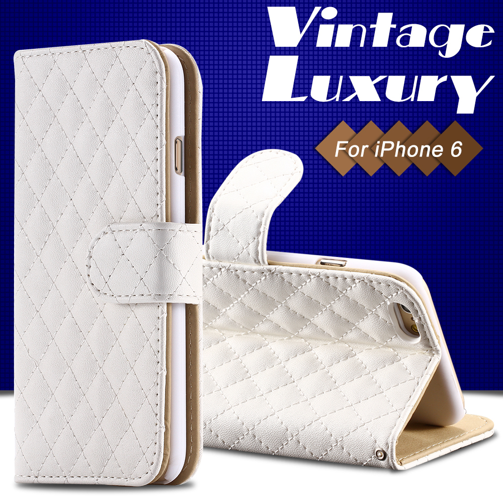 """Luxury Plaid Pattern Flip Wallet Case For iPhone 6 4.7"""" Leather Phone Cover Photo Frame Fashion Stand Magnetic Buckle YXF04586(China (Mainland))"""