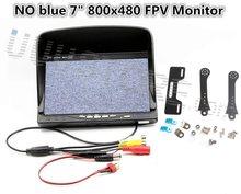 NO blue 7″ FPV LCD Color 800×480 FPV Monitor Video Screen  Sunhood & holder for Rc Multicopter DJI Phantom Ground Station QAV250