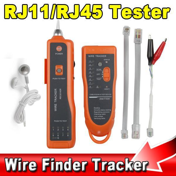 2015 Hot Sale RJ11 RJ45 Cat5 Cat6 Telephone Wire Tracker Tracer Toner Ethernet LAN Network Cable Tester Detector Line Finder(China (Mainland))