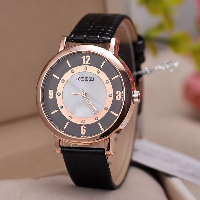 Casual classic fashion new hot women rhinestone watches 2015 Luxury brand ladies quartz hand clock leather strap - Gnomon watch Industry Co., Ltd store