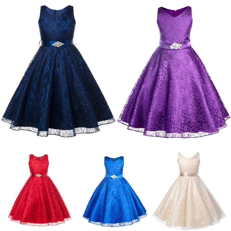 Summer Elegant Bridesmaid Princess tutu bow Baby Girl Prom Dresses with Foral Appliques for kids Birthday Party outfit clothing(China (Mainland))