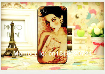 Free Shipping 2013 New Arrival Fashion Sexy Girl Cover Cell Phone Case for Iphone 4s and Iphone 4