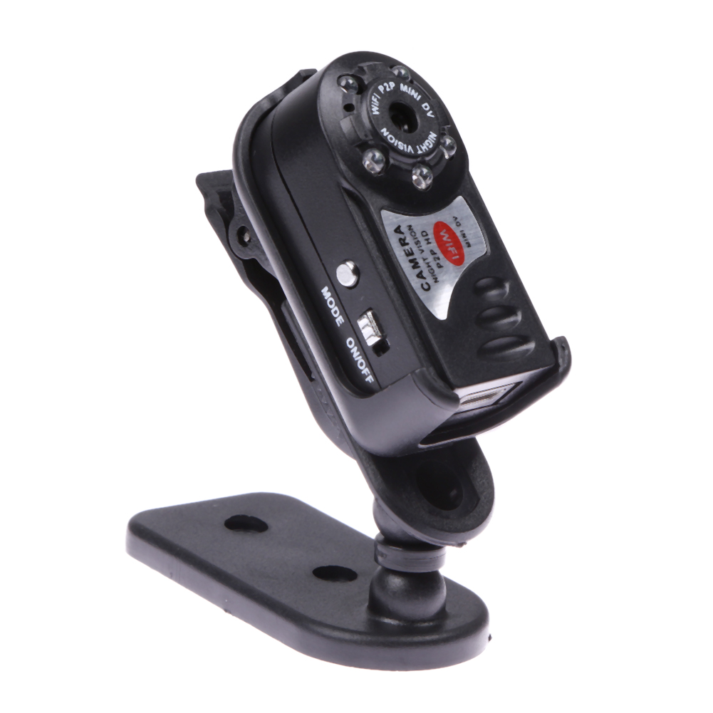 Mini WiFi Car DVR Upgrade Q7 720P HD DV Wireless Car IP Camera Night Vision Espia Video IR LED Dispaly Motion Detection Dash Cam(China (Mainland))