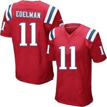 Men's #11 Julian Edelman Elite Red Alternate Football Jersey 100% Stitched(China (Mainland))