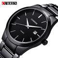 2016 New Curren quartz Tag Black full steel Vogue Casual watch Men Business Male Relojes hombre