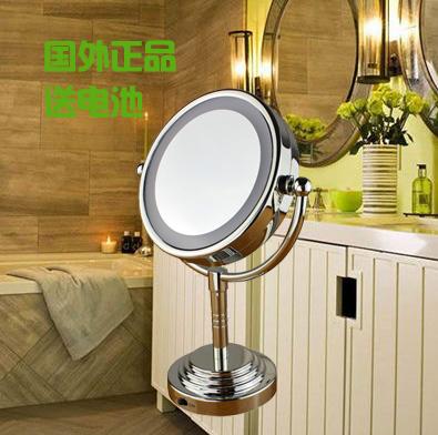 happy house led lighting mirror with light 6 desktop mirror vanity mirror makeup mirror double. Black Bedroom Furniture Sets. Home Design Ideas