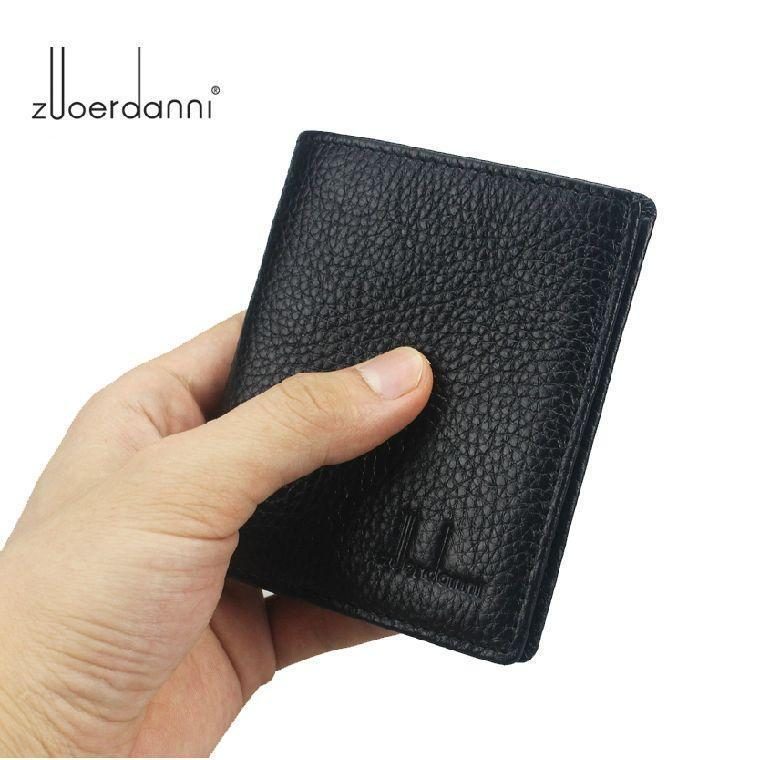 Small Mini Ultra-thin 100% Genuine Leather Soft Natural Cowhide men's wallet(China (Mainland))