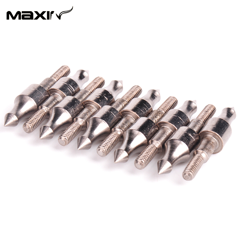 12pcs lot Hunting Crossbow Arrowhead Broadheads Arrow Accessories 125grain Screw Insert Arrow Steel Piont in Bow