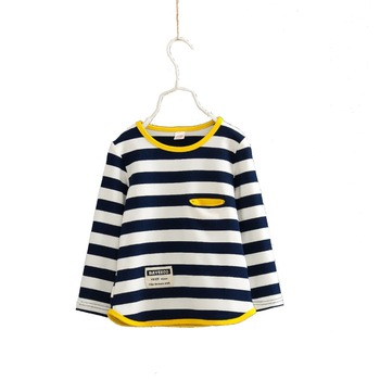 Spring autumn stripe baby sweatshirt long-sleeved sweatshirt boys girls cotton children's sweatshirts baby clothing